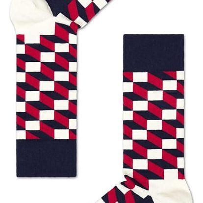Happy Socks tříbarevné pánské ponožky Filled Optic