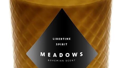 Svíčka s vůní čerstvého zázvoru a citronové trávy Meadows Libertine Spirit,60hodinhoření