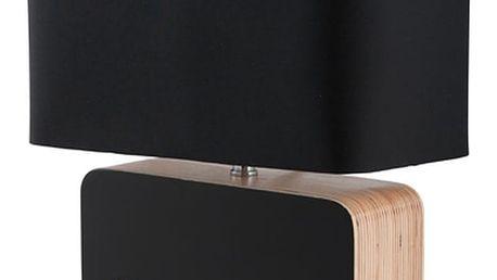 Černá stolní lampa Zuiver Wood - doprava zdarma!