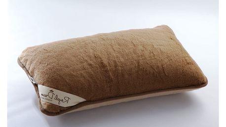 Vlněný polštář Royal Dream Camel, 40x70 cm - doprava zdarma!