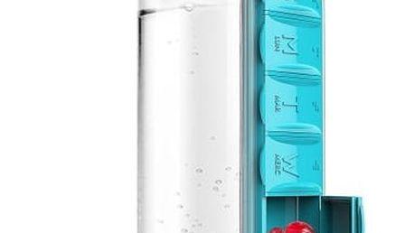 Láhev na vodu s dávkovačem léků