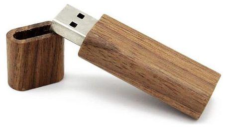 Dřevěný USB flash disk - různé velikosti a barvy