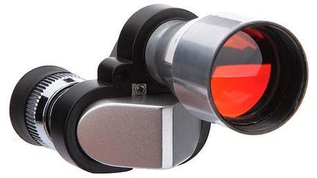 Outdoorový dalekohled - stříbrná barva