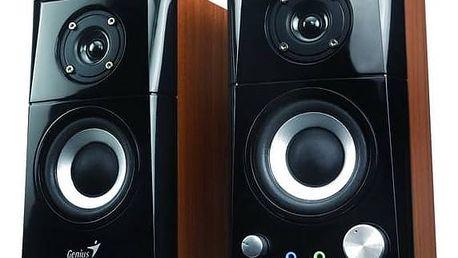 Reproduktory Genius SP-HF 500A 2.0 (31730905100) černá/imitace dřeva + Doprava zdarma