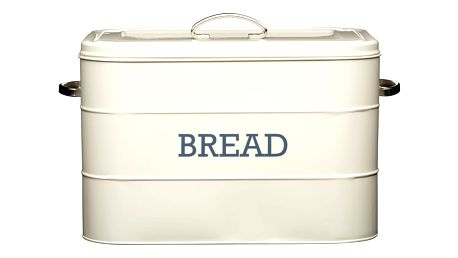 Krémová plechová dóza na chléb Kitchen Craft Bread - doprava zdarma!