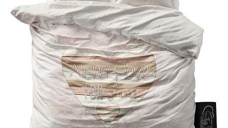 Povlečení z mikroperkálu na dvoulůžko Sleeptime All My Love,200x220cm