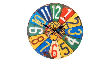 Koopman 35631 Kulaté nástěnné hodiny Shabby Chic 38 cm - SUMMER
