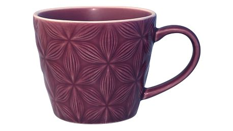 GREEN GATE Keramický hrnek Kallia plum, fialová barva, keramika