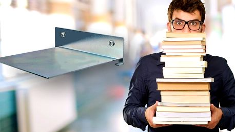 Levitující knihovna na vaše nejoblíbenější knihy