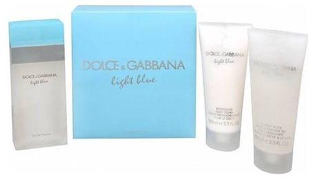 Dolce & Gabbana Light Blue Woman EdT 100 ml + tělové mléko 100 ml + sprchový gel 100 ml dárková sada + Doprava zdarma
