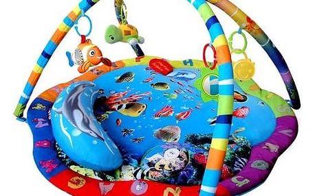 Hrací deka s hrazdou Sun Baby Podvodní svět červená/modrá/zelená/fialová + Doprava zdarma