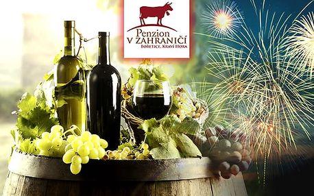Silvestr na Pálavě na 4 dny pro dvě osoby s neomezenou konzumací vína, rautem a ohňostrojem.