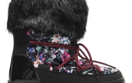 Crocs barevné sněhule Lodgepoint Graphic Lace Boot Tropical/Black