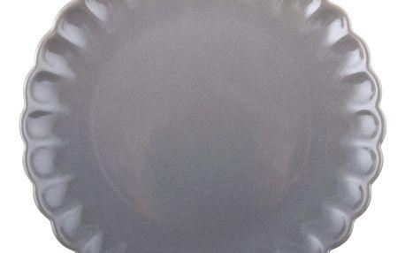 IB LAURSEN Talíř Mynte French grey, šedá barva, keramika