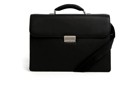 Černá pánská kožená taška bugatti