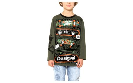 Desigual khaki chlapecké tričko Fermin