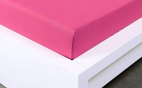 XPOSE ® Jersey prostěradlo Exclusive dvoulůžko - karmínová 180x200 cm