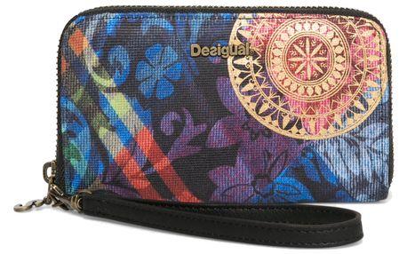 Desigual barevná peněženka Mini Zip Transflores