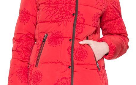 Desigual červená péřová bunda Cecilia