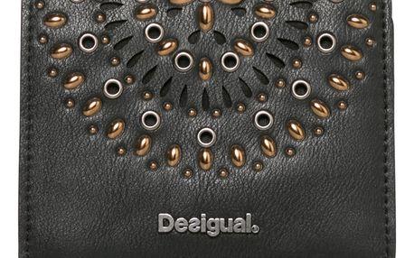 Desigual černá peněženka Square Gossip