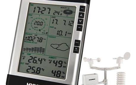 Meteorologická stanice Hyundai WSP 3080 R WIND černá + Doprava zdarma