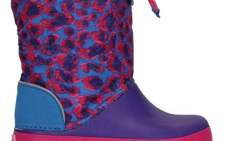 Crocs barevné boty Lodgepoint Graphic Kids Leopard