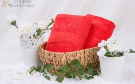 XPOSE ® Froté osuška VERONA - červená 70x140 cm