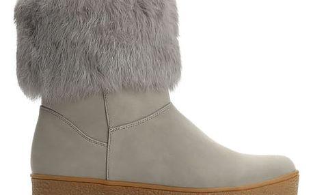 Dámské šedé kotníkové boty Brida 2146