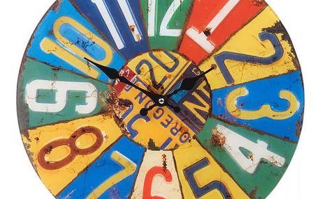 Koopman Shabby Chic SUMMER 35631 Kulaté nástěnné hodiny 38 cm