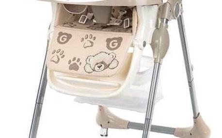 Jídelní židlička G-mini Melisa Medvídek béžová + Doprava zdarma