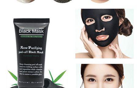 Vysoce efektivní korejská černá maska z bambusového uhlí