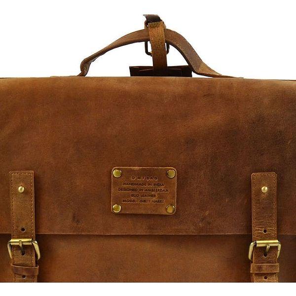 Kožená vintage brašna O My Bag Dirty Harry, velbloudí - doprava zdarma!