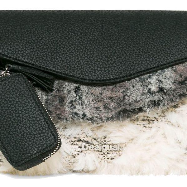 Desigual černá chlupatá kabelka Arlés Ygritte