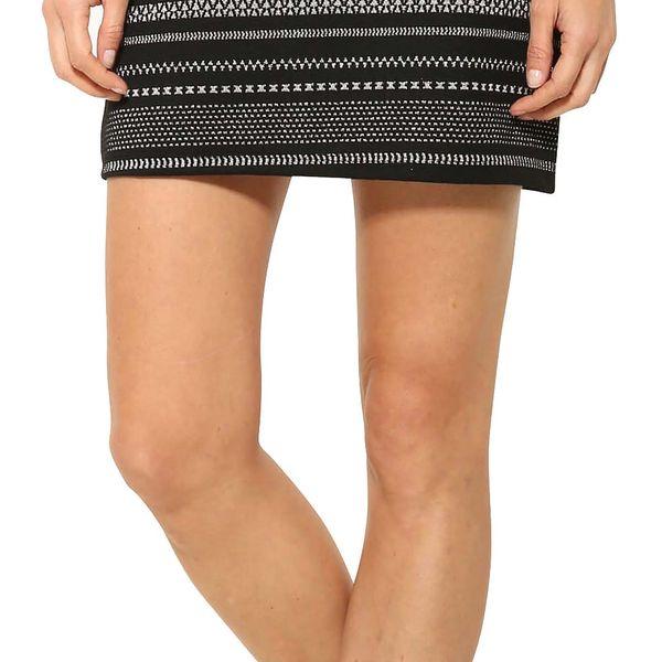 Desigual černo-stříbrná sukně Anders