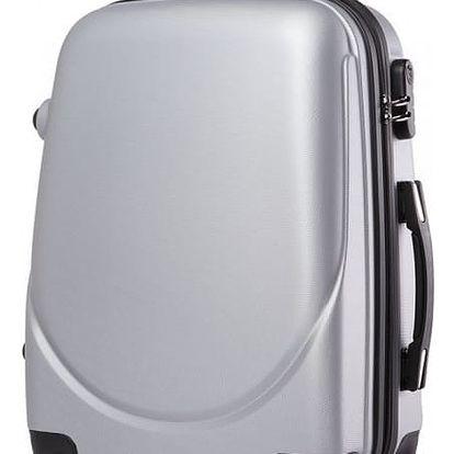 Dámský šedý kufr na kolečkách Gyna 1602
