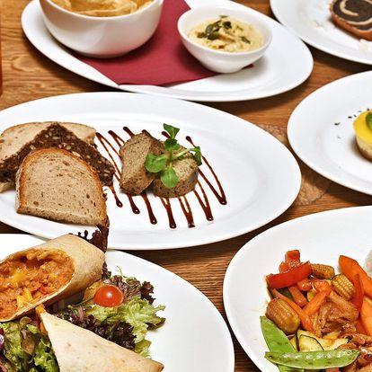 Vegetariánské menu pro 2 kousek od orloje