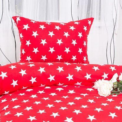 XPOSE ® Bavlněné povlečení TARA EXCLUSIVE - červená 140x200, 70x90