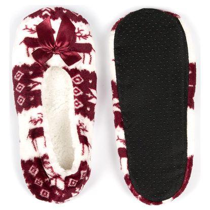 Dámské domácí papuče s soby Norský vzor
