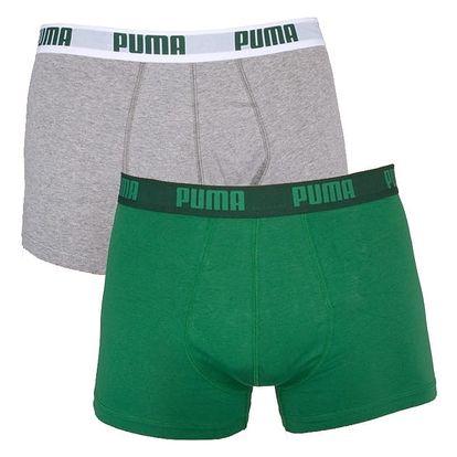 2PACK Pánské Boxerky Puma Amazon Green Short M