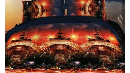 3D souprava povlečení 2+2, set 4 ks Vzor: 12 - Paříž 2