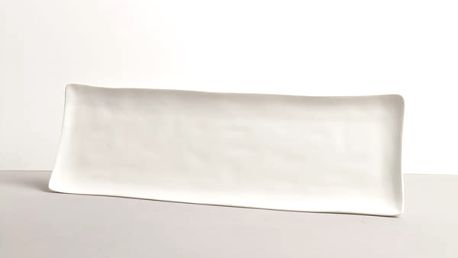 MIJ Bílý sashimi talíř MODERN 33 x 11 cm