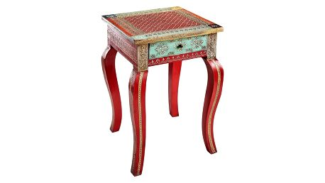 Červený odkládací stolek z mangového dřeva Støraa Vito - doprava zdarma!