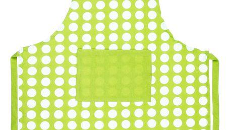 4Home Zástěra Zelený puntík, 70 x 90 cm