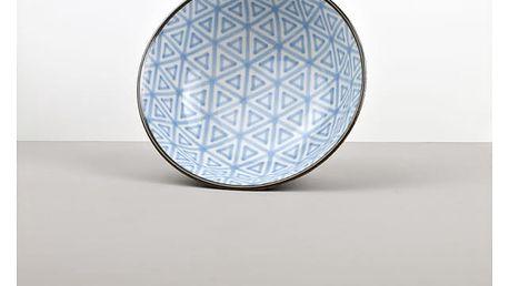 MIJ Velká mísa Triangle INDIGO IKAT 20 x 8 cm