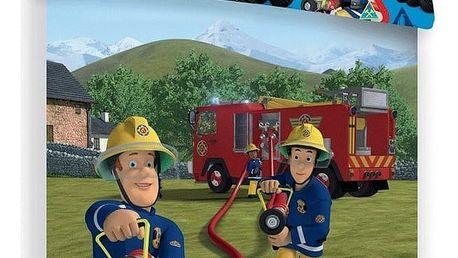 Jerry Fabrics Dětské bavlněné povlečení Požárník Sam 007, 140 x 200 cm, 70 x 90 cm
