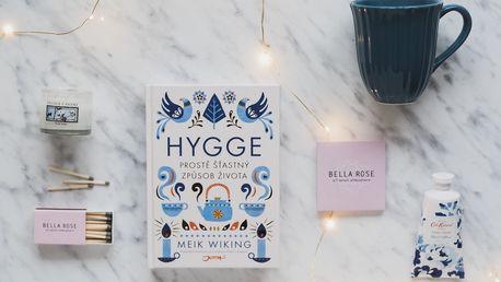 Bella Rose Dárkový set Malé Hygge, modrá barva, sklo, papír