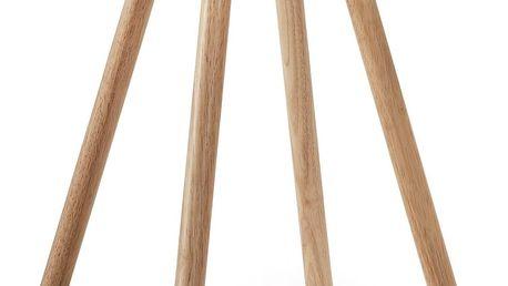 Bílý odkládací stolek s dřevěným podnožím La Forma Bruk - doprava zdarma!