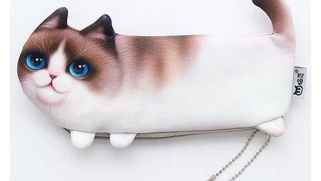 Penál ve tvaru kočičky - 4 druhy