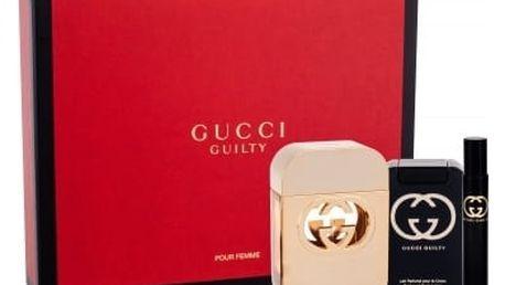 Gucci Gucci Guilty dárková kazeta pro ženy toaletní voda 75 ml + tělové mléko 100 ml + toaletní voda 7,4 ml