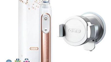 Zubní kartáček Oral-B Genius 9000 Rose Gold bílý/zlatý Gillette Venus Swirl + pouzdro (Dárková edice) (zdarma) + Doprava zdarma